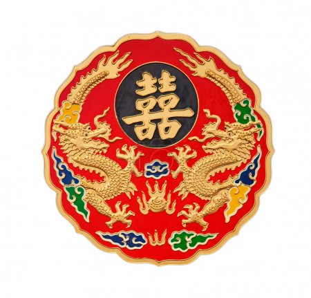 Golden chinese dragons