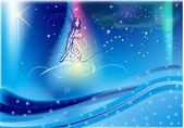 Fairyl obloze s sněhové vločky a hvězdy