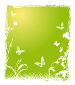 green and white nature illustration