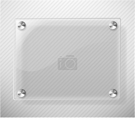 Illustration for Glass Plate on White Background - Vector Illustration eps 10 - Royalty Free Image