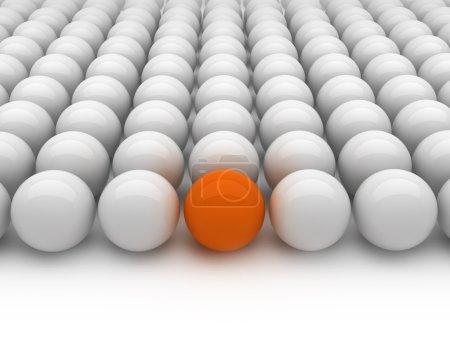 Individuality - gray and orange balls