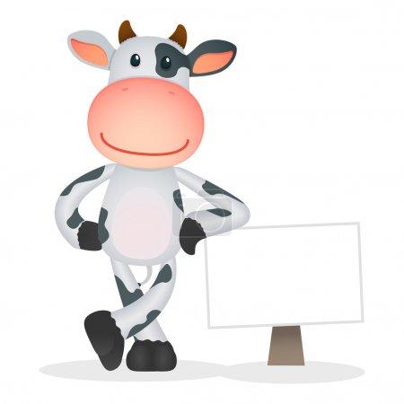 Photo pour Humour vache dessin animé dans diverses poses - image libre de droit