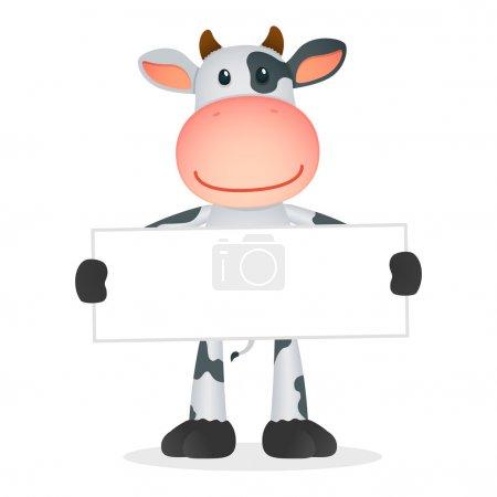 Illustration pour Humour vache dessin animé dans diverses poses - image libre de droit