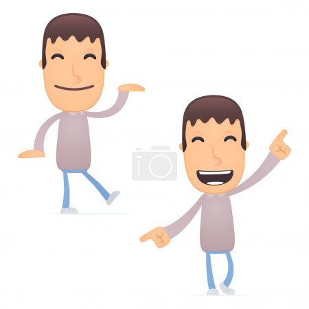 Illustration for Vector illustration of a funny cute character - Royalty Free Image