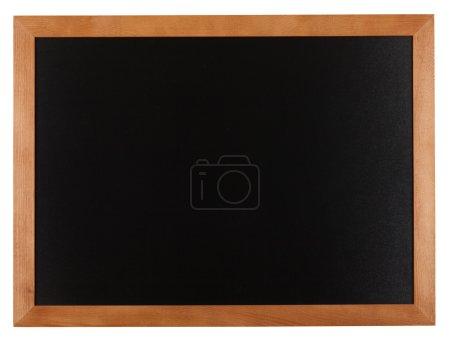 Photo pour Arrière-plan de tableau blanc dans un cadre en bois isolé sur blanc - image libre de droit