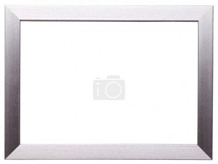 Photo pour Cadre classique en argent isolé sur fond blanc - image libre de droit
