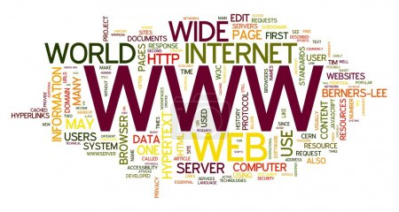 WWW in word tag cloud