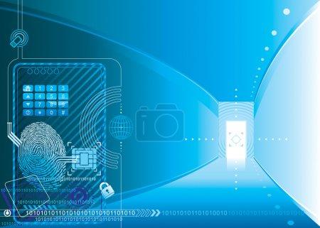 Ilustración de Concepto de acceso a la seguridad de las capas de ilustración vectorial. - Imagen libre de derechos