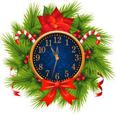 Watch decorated Christmas wreath (New Year's Eve)