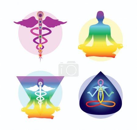 Illustration for Yoga logo ideas - Royalty Free Image