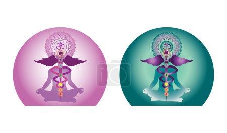 Illustration for Yoga creative design - Royalty Free Image