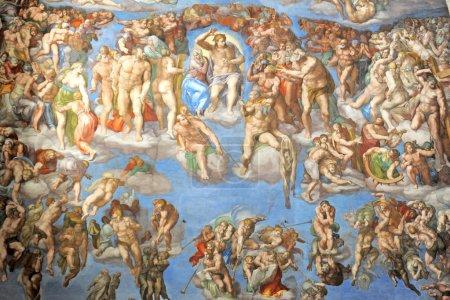 Photo pour Mur de la chapelle Sixtine du vatican, rome, Italie - image libre de droit