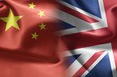 Kína és az Egyesült Királyságban zászlók
