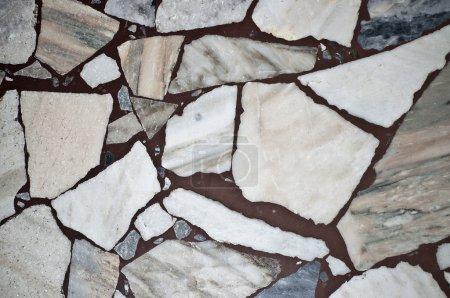 Marble floors.