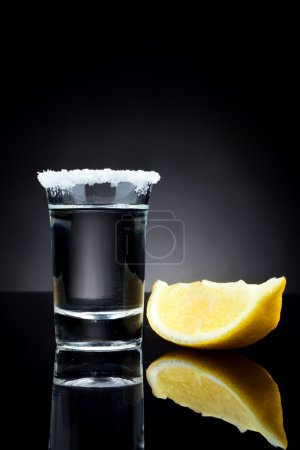 Glass of tequila shot