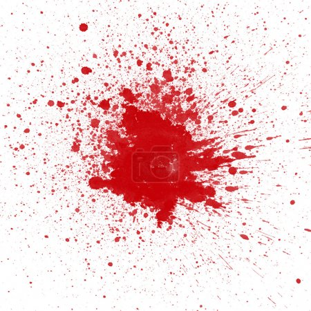 Dry blood splatter