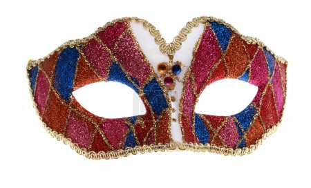 Photo pour Masque de Venise isolé sur fond blanc. - image libre de droit