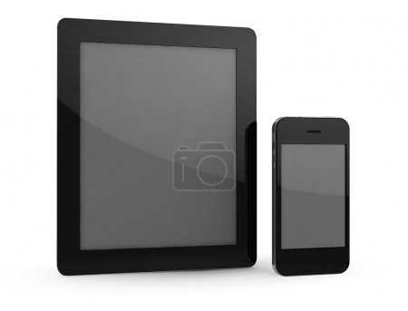 Tablet and phone