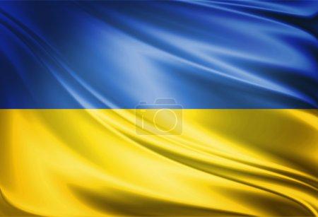 Photo pour Drapeau de l'Ukraine - image libre de droit