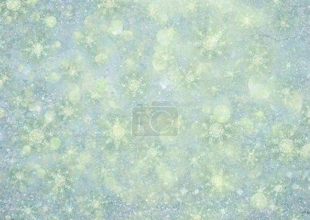 Photo pour Illustration d'un fond de flocon de neige d'hiver scintillant - image libre de droit