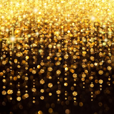 Photo for Illustration of Rain of Lights Christmas or Party Background - Royalty Free Image