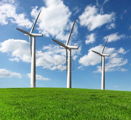 Wind turbines , alternative energy
