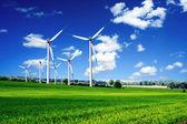 paysage de turbines de vent