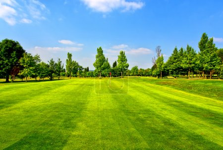 Golf course and blue sky