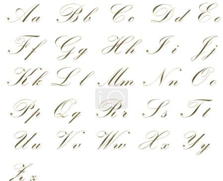 Photo pour Elégant alphabet doré - image libre de droit