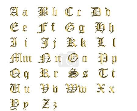 Photo pour Alphabet doré - image libre de droit