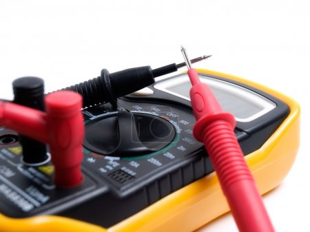 Photo for Closeup view of a multi functional multimeter device... - Royalty Free Image
