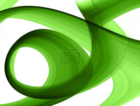 Photo for Green abstract formation over white - design element - Royalty Free Image