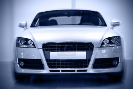 Photo for Front view of european sport coupe, motion effect - Royalty Free Image