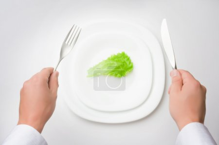 Photo for Eat less! concept of healthy eating / dieting - Royalty Free Image