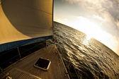Sailboat in the open sea