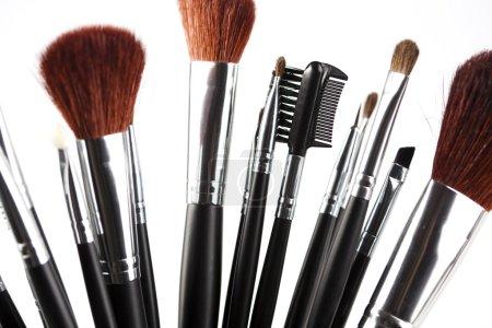 Brushes, makeup, cosmetics