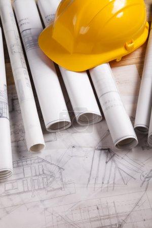 Photo pour Plans d'architecture . - image libre de droit