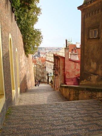 Stairs street in Prague