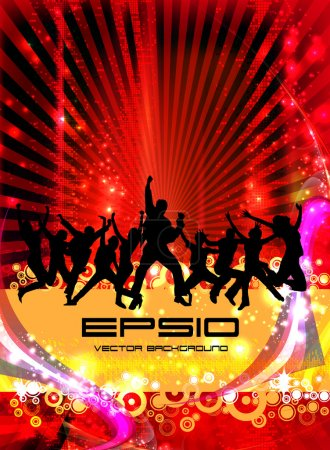 Illustration for Music event background. Vector eps10 illustration. - Royalty Free Image