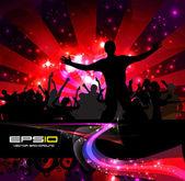 Music event background Vector eps10 illustration