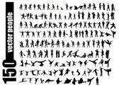 High quality posing silhouettes Vector illustration