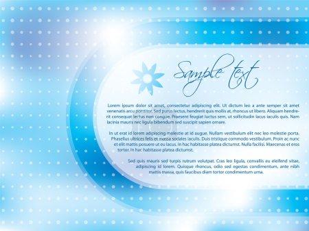 Light blue brochure design
