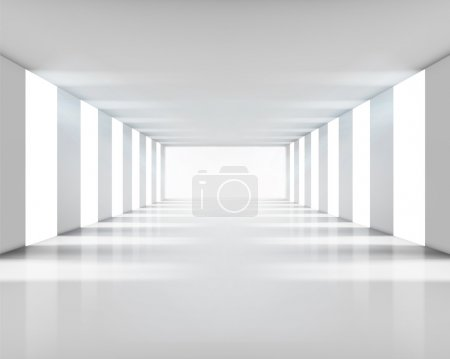 Photo for Empty white interior. Vector illustration. - Royalty Free Image