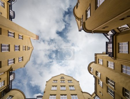 Photo for Apartment building from Low angle view - Royalty Free Image