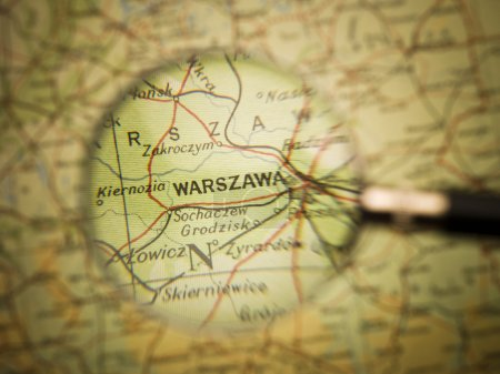 Map of Warzawa