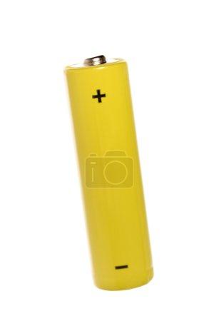 Photo pour Batterie jaune isolé sur fond blanc - image libre de droit