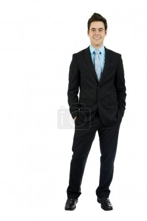 Young business man hands in pocket