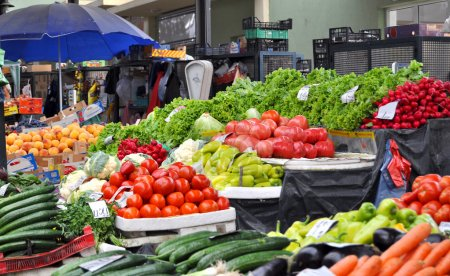 Fresh and organic fruits and vegetables