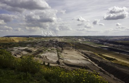 Open-pit lignite mining in Germany
