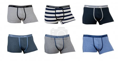 A collage of six male underwear